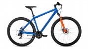 Велосипед 29' хардтейл FORWARD SPORTING 29 2.0 disc диск, синий матовый, 21ск., 21' RBKW9MN9Q011