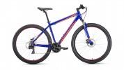 Велосипед 29' хардтейл, рама алюм. FORWARD APACHE 29 2.0 disc син./оранж.21ск.,17' RBKW9M69Q005 (19)