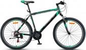 Велосипед 26' хардтейл, рама алюминий STELS NAVIGATOR-600 V антрацит/зеленый, 21ск., 18'