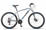 Велосипед 27,5' хардтейл STELS NAVIGATOR-700 MD диск, серый/синий, 21 ск., 17,5'
