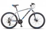 Велосипед 27,5' хардтейл STELS NAVIGATOR-700 MD диск, серебристый/синий, 21 ск., 19' F010