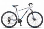 Велосипед 29' хардтейл STELS NAVIGATOR-900 D серебристый/синий 21ск., 17,5'
