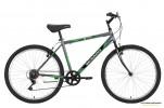Велосипед 26' хардтейл MIKADO Blitz Lite V-brake, серый-зелен., 6ск. 26SHV.BLITZLT.18GR8