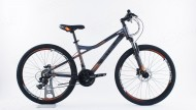 Велосипед 26' хардтейл, рама алюминий STELS NAVIGATOR-610 D антрацит/оранж., 21 ск., 14' (2020) V010