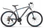 Велосипед 26' хардтейл, рама алюминий STELS NAVIGATOR-640 D диск, серый/синий, 24 ск., 19'