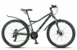 Велосипед 26' хардтейл, рама алюминий STELS NAVIGATOR-610 D антрацит/зел., 21 ск., 14' (2020) V010