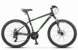 Велосипед 26' хардтейл STELS NAVIGATOR-500 MD диск, черный/зелёный 2019, 21 ск., 16' F010 LU080634