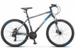 Велосипед 26' хардтейл, рама алюминий STELS Navigator-590 D диск, сер./син., 21ск.,16' K010 LU084985