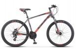 Велосипед 26' хардтейл, рама алюминий STELS Navigator-630 D диск, антрацит/красный, 21 ск., 16' V010