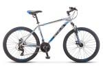 Велосипед 26' хардтейл STELS NAVIGATOR-500 MD диск, серебрист./синий 2020, 21 ск., 20' F010 LU085188