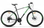 Велосипед 29' хардтейл STELS NAVIGATOR-920 MD антрацитовый/зеленый 24ск., 18,5'