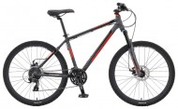 Велосипед KHS 26' хардтейл, рама алюминий, ALITE 150 черный, 24ск. (17-З)