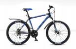 Велосипед 26' хардтейл, рама алюминий STELS NAVIGATOR-650 MD диск, черный/синий, 21 ск., 18'