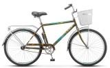 Велосипед 26' дорожный STELS NAVIGATOR-210 Gent хаки, 1 ск., 19' + корзина