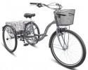 Велосипед 26' STELS ENERGY-VI серый, +корзина-2шт., 6 ск., 17' (19-З)