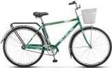 Велосипед 28' дорожный STELS NAVIGATOR-300 Gent зеленый, 1ск., 20' + корзина Z010