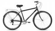 Велосипед 28' дорожный FORWARD DORTMUND 28 2.0 черный/серебро, 7 ск., 19' RBKW0RN87002