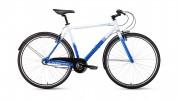 Велосипед 28' гибрид FORWARD ROCKFORD 28 белый/синий, 3 ск., 540 мм RBKW9Y683004