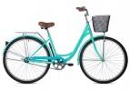 Велосипед 28' городской, рама женская FOXX VINTAGE зеленый, передняя корзина,18' 28SHC.VINTAGE.18GN1