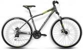 Велосипед KROSS 27,5' рама женская, алюминий, LEA R4 серый/лайм, 8ск. (17-З)