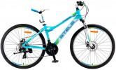 Велосипед 26' рама женская, алюминий STELS MISS-5100 MD диск, голубой, 21 ск.