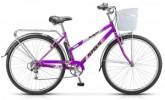 Велосипед 28' городской, рама женская STELS NAVIGATOR-350 LADY фиолетовый, 7ск., 20' + корзина