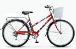 Велосипед 28' городской, рама женская STELS NAVIGATOR-350 LADY красный, 7ск., 20' + корзина Z010