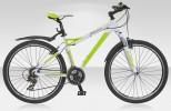 Велосипед STELS 26' рама женская, алюминий, MISS-5100 MD диск, белый/зеленый, 21 ск., 17'