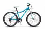 Велосипед STELS 26' рама женская, алюминий, MISS-7100 голубой/салатовый/белый, 21 ск., 17'