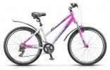 Велосипед STELS 26' рама женская, алюминий, MISS-7500 белый/розовый/фиолетовый, 21 ск., 18'