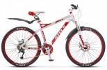 Велосипед STELS 26' рама женская, алюминий, MISS-8900 MD диск, красный/белый, 24 ск., 17'