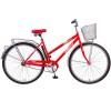 Велосипед 28' городской, рама женская FOXX FIESTA красный+передняя корзина 282 SHL.FIESTA.RD8 (20)