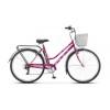 Велосипед 28' городской, рама женская STELS NAVIGATOR-355 Lady, фиолетовый, 7ск., 20' + корзина