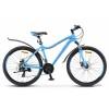 Велосипед 26' рама женская, алюминий STELS MISS-6000 MD диск, голубой 2019, 21 ск., 19'