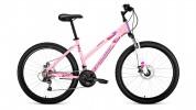 Велосипед 26' хардтейл, рама женская FORWARD IRIS 26 2.0 disc розовый, 18 ск., 17' RBKW97N6P003