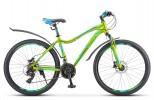 Велосипед 26' рама женская, алюминий STELS MISS-6000 D диск, жёлт./зелён., 21 ск., 15' V010 LU083855