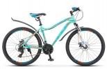 Велосипед 26' рама женская, алюминий STELS MISS-6000 MD диск, голубой, 21 ск., 15'