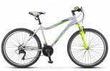 Велосипед 26' рама женская STELS MISS-5000 V серебристо-салатовый, 21 ск., 16' (2021) LU089248