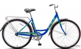 Велосипед 28' городской, рама женская STELS NAVIGATOR-345 синий, 1 ск., 20' + корзина Z010 LU070382