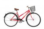 Велосипед 28' дорожный, рама женская FOXX FIESTA красный + передняя корзина 20' 28SHC.FIESTA.20RD1