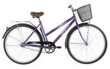 Велосипед 28' городской, рама женская FOXX FIESTA фиолетовый+передняя корзина 20' 28SHC.FIESTA.20VT1