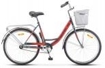 Велосипед 26' STELS NAVIGATOR-245 Серый/красный 2020 Z010 19' + корзина (LU093460)