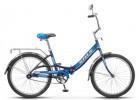 Велосипед 24' складной, рама алюминий STELS PILOT-810, темно-зеленый, 1 ск.