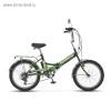 Велосипед 20' складной STELS PILOT-450 зеленый, 6 ск., 13,5'