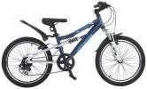 Велосипед 20' двухподвес, рама алюминий NOVATRACK ACTION-JS 200 тем.-синий, 7ск. 20AS7V.ACTION.BL5 (