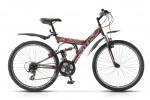 Велосипед 26' двухподвес STELS FOCUS белый/черный/голубой 21 ск., 18'