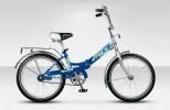 Велосипед 20' складной STELS PILOT-310 синий/голубой, 1 ск., 13'