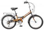 Велосипед 20' складной STELS PILOT-350 черный/оранжевый, 6 ск., 13'