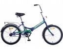 Велосипед 20' складной STELS PILOT-410 фиалковый/зеленый