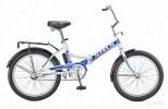 Велосипед 24' складной STELS PILOT-710 белый/синий
